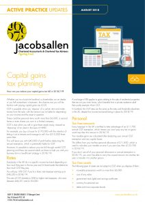 Capital gains tax planning
