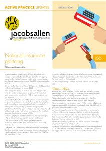 National insurance planning - Jacobs Allen