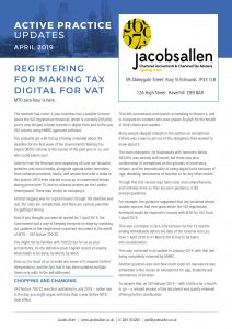 Registering for making tax digital for vat