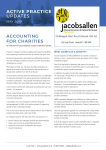 Jacobs Allen - Accounting for Charities