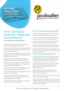 The Tapered Annual Pension Allowance