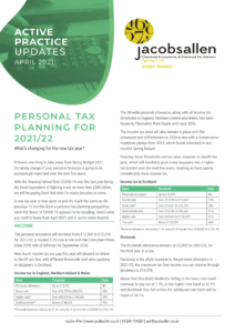 personal tax planning for 2021 2022